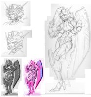 Elita One Roughs by FunPubComics