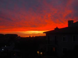 Sunset from the Balcony by Llyzabeth