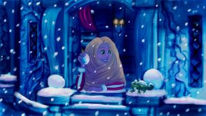 Rapunzel's winter by Kevsoraone