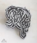 Wolf metal badge pin SOLD OUT by J-C