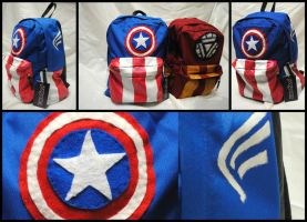 Avengers Captain America Minimalist Backpack by rickardshater