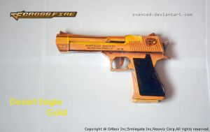 Crossfire Desert Eagle Gold Papercraft 1 +DOWNLOAD by svanced