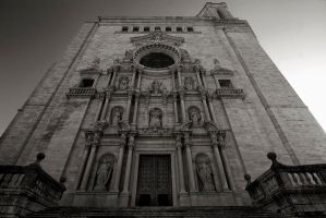 Girona Cathedral Facade by eternumviti