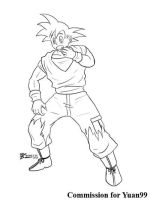 COM : Ash into Songoku part 3 SKETCH by whiteguardian