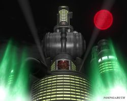 The ShinRa Building 3d Model by NoenGaruth