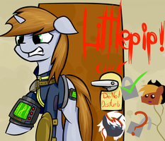Littlepip Fallout Equestria OHHH MIERD.... by ruiont