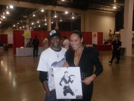 Me and Tia Carrere 2 by DamageArts