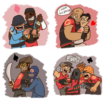 Nutty's TF2 Shipping Wall by Nintendo-Nut1