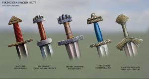 Viking Era Sword Hilts by RobbieMcSweeney