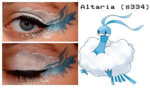 Pokemakeup 334 Altaria by nazzara