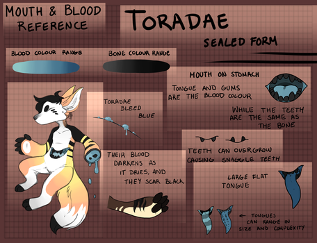 Toradae: Blood and Mouth Info by Falkzii