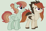 COLLAB:Dusty and Smokey, sistas from another world by Strawberry-Spritz