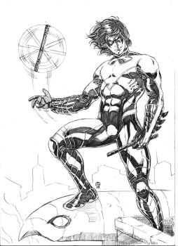 New 52 Nightwing version 03 by JeanSinclairArts