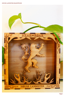 Game of Thrones Inspired House Lannister ShadowBox by TheMapleOrigins