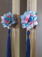 Flower kusudama and the mirror by Revenia