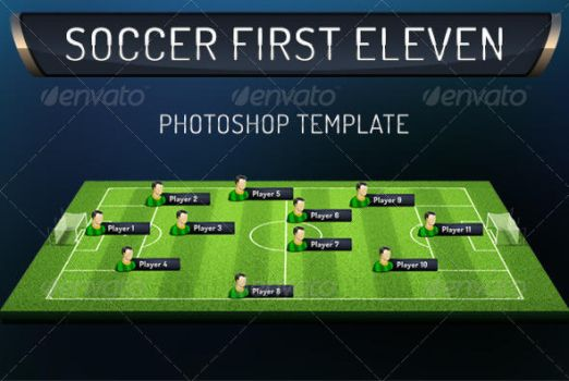 First Eleven Soccer Photoshop Template by Grasycho
