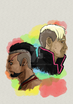 Pagan and Vaas by KibaDuncan