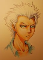 copic practise - Hitsugaya by nocturnalMoTH