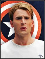 Chris Evans as Steve Rogers / Captain America by tictokki