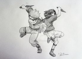 Naruto and Sasuke by ViivaVanity