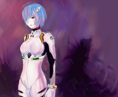 Art Trade : Rei Ayanami by chevalier16