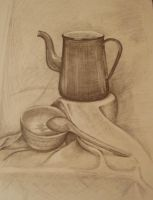 Kettle, pencil on paper by MaxaOn