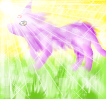 Espeon using Morning Sun by Tears-of-Fire