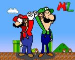 Mario and Luigi team picture by SamChat