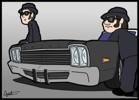 The Bluesmobile by AgentC-24
