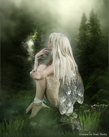 Fairy in the forest by Temyplatde