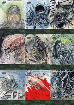 alien sketch cards by toonfed
