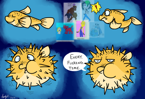 Pufferfish Frolicks by Sinister-Toaster