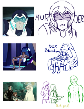 Voltron AU Sketches by Hitamory