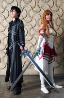 Sword Art Online: Asuna + Kirito: Peace + Justice by Khainsaw