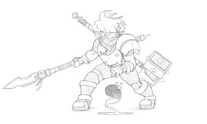 Bastion: The Kid by AyeDoubleU