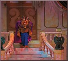 Beast Walks down edged by WDWParksGal-Stock