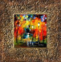 Afremov FALL PARK - Framed Ori by Leonidafremov