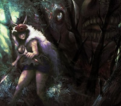 PRINCESS MONONOKE by awfulowafalo