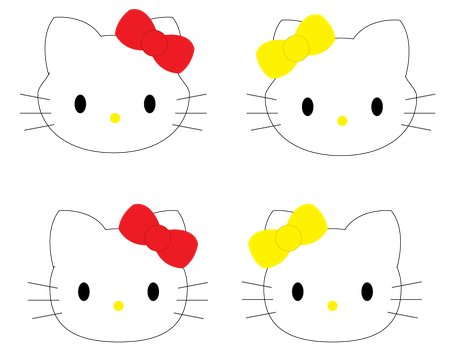 Hello Kitty and Mimmy by DrawDesign