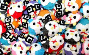 Penguin Plush Keychains by CosmiCosmos