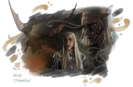 Thranduil-Dragon scars by LadyMintLeaf