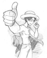 Luffie of One Piece by gndagnor