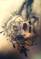 Skull Drawing by ABurder