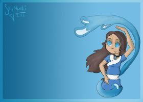 The Gaang: Katara by Asterismo