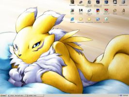 Renamon desktop by Y-Cat