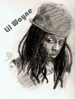 Portrait of Lil Wayne by cheatingly