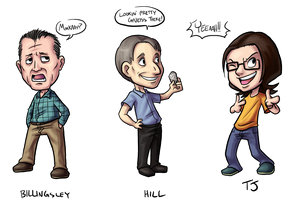 Caricatures from last semester by medli20
