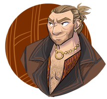 Character Portraits: Varric Tethras by bruceliane
