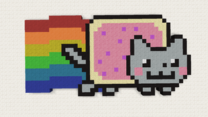 Minecraft Pixel Art: Nyan Cat by JarkoStudios