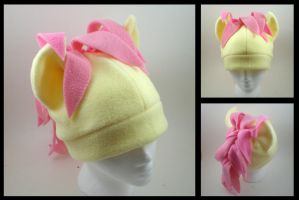 Fluttershy fleece pony hat by eitanya